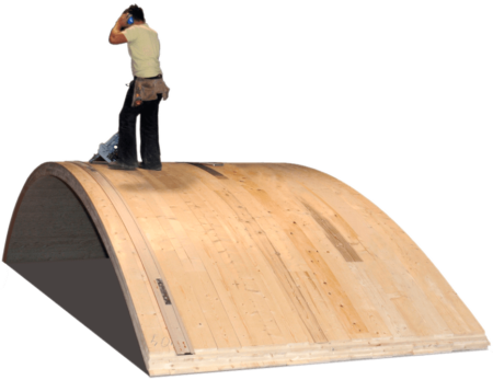 Holzbau Unterrainer - Radiusholz Gewoelbe Fertigung